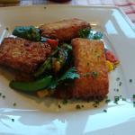 Vegetarisch gerecht, kartofftaschen