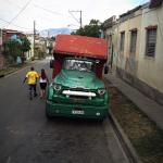 This is a bus in Santiago de Cuba