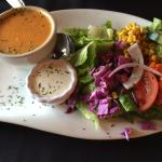 Soup- lobster bisque and salad
