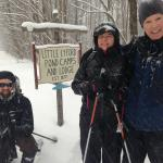 Skiing through a snowstorm to Little Lyford