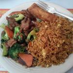 Combo #13 Beef & broccoli w/ fried rice and egg roll