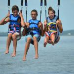 Going for a dip with Corolla Parasail!