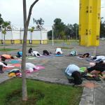 Yoga en el metropolitano
