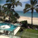 View from room of beautiful Noosa Beach
