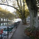 Canal leading to the Lake of Annecy