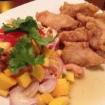 Crispy Fish Mango Salad