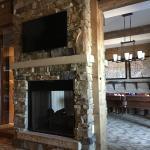 Livingroom See-Thru Fireplace