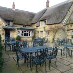 The Wykham Arms outside seating area