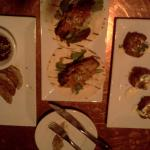 Potstickers, MooShu Duck, and Crab Cakes