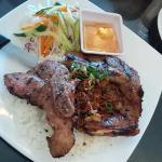 pork chop on rice