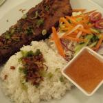 pork rib on rice