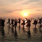 Yoga on the Beach by Mahsa