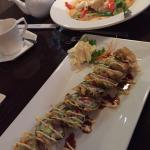 Crunchy tuna roll and curry chicken