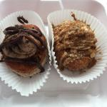 Cronuts- one Nutella filled, the other stuffed French toast