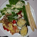 Salad buffet...