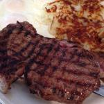 Rib Eye And Eggs