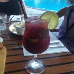 Cocktail by the pool with dinner