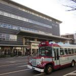 近江町市場外観と金沢周遊バス