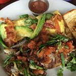 Bacon, jalapeño, avocado scramble with rosemary potatoes!