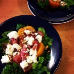 Poached Peach Salad