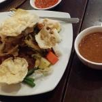 Gago gado ( Indonasian salad served with peanut sauce dressing) - a bit spicy