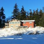 The main lodge on a sunny February day.
