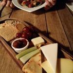 Cheese board & prawn and chorizo linguine
