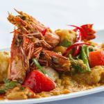 Our Signature Dish Goong Phad Phong Kra Ree