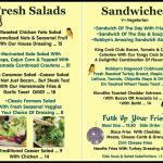 Our New Salad & Sandwich Menu