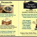 Our New Dessert & Kids Menu