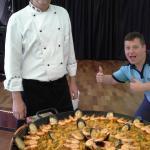 Demonstration of paella making