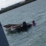 This man fell out of his boat and could not get back in!