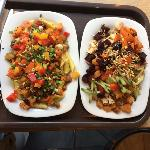 slow roasted beef and chicken vegie mix