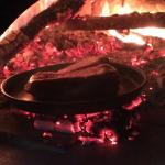 Fiorentina in cottura nel forno a legna