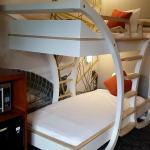Bunk beds in separate space/room