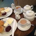 Our amazing tasting scone and tea :)
