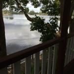 Peaceful view of the river from our verandah