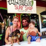 The gurus of Al Chile Surf Shop