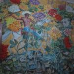 One of the many murals