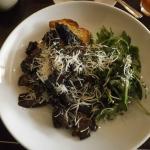 Mushrooms on toast & roquette