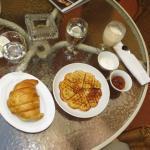Swedish waffles breakfast