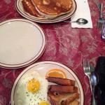 Huge! Huge pancakes.