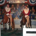 The Rockettes ride Saddlebred Rocking Horses