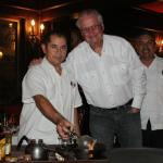 """Stoschio"" the best waiter in Mazatlan preparing table side Mexican coffee"