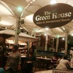 The entrance of the Green House Cafe