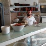 chef preparing pizza bottom, Alta Marea