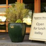 The Reserve House Restaurant serves lunches May through October