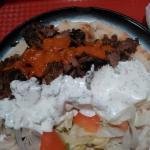 Kebab en plato