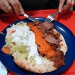 Otro kebab en plato
