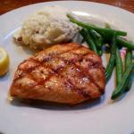 Salmon and garlic potatoes yum